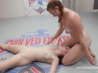 Anastasia Rose lesbian wrestling against Stephie Staar rose