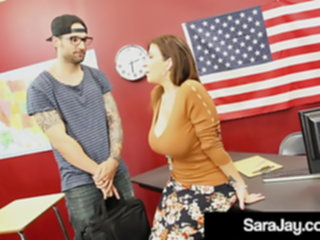 Milf Teacher Sara Jay Gets Bathed In Cum By Foreign Student! teacher